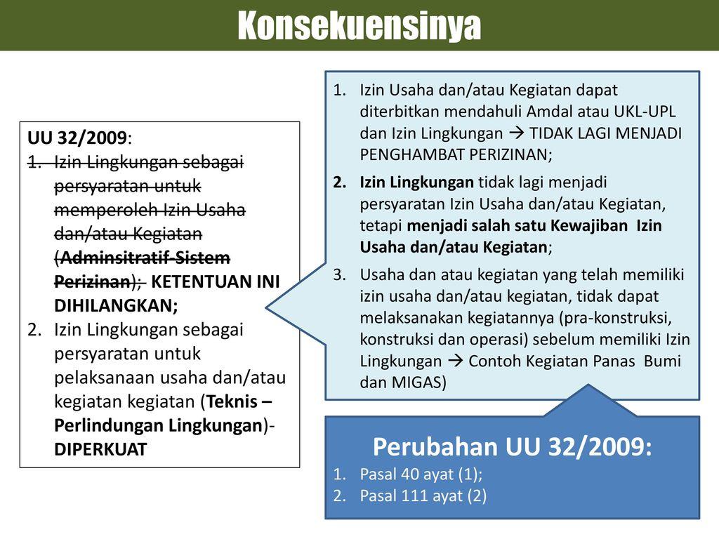 Reformasi Proses Amdal Ukl Upl Dan Izin Lingkungan Ppt