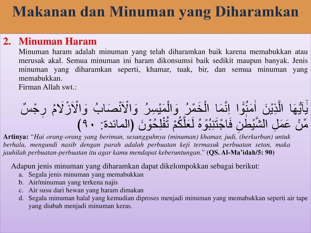 Kriteria Makanan Dan Minuman Halal Dalam Islam Ppt Download