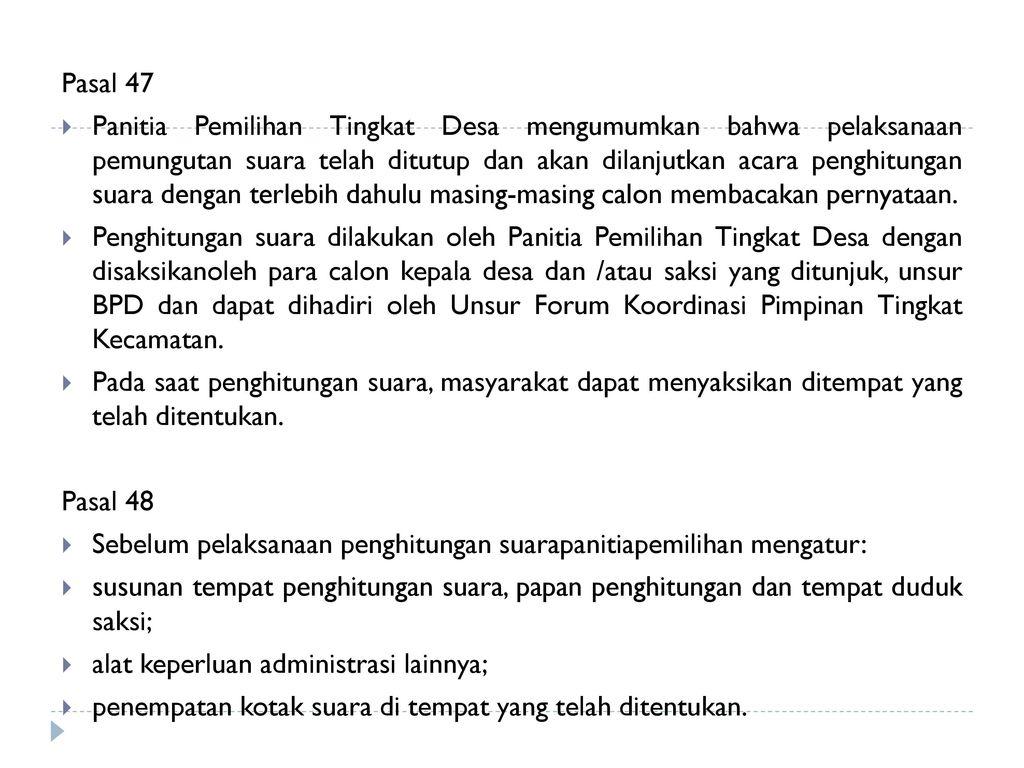 Alur Penyusunan Kebijakan Pilkades Serentak Di Kab Sukabumi