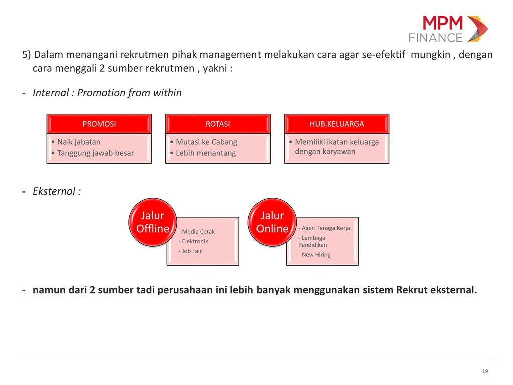 rekrutmen kelompok 1 ernawati ppt download Struktur Organisasi Hotel 19 internal promotion from within