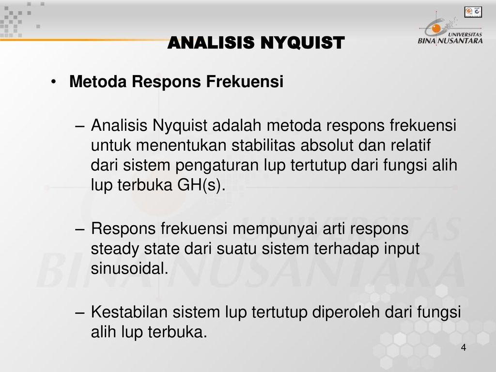 Pertemuan 19 polar plot dan nyquist plot ppt download analisis nyquist metoda respons frekuensi ccuart Gallery