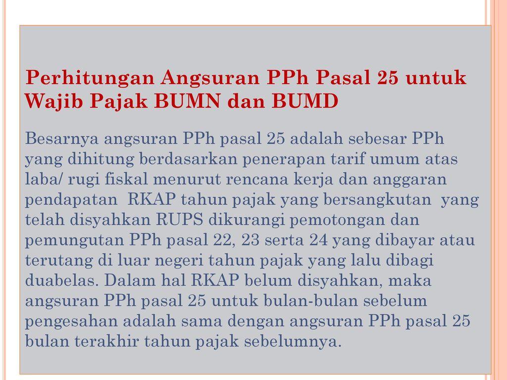 Materi Ke 14 Penghitungan Pph Badan Ppt Download