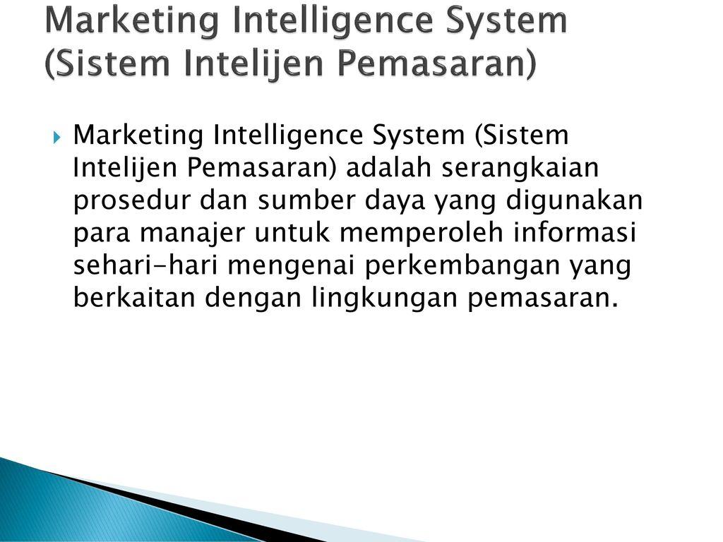 Marketing Intelijen Adalah