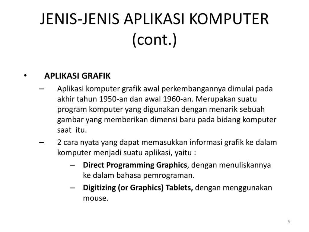 Pengertian Aplikasi Komputer Ppt Download