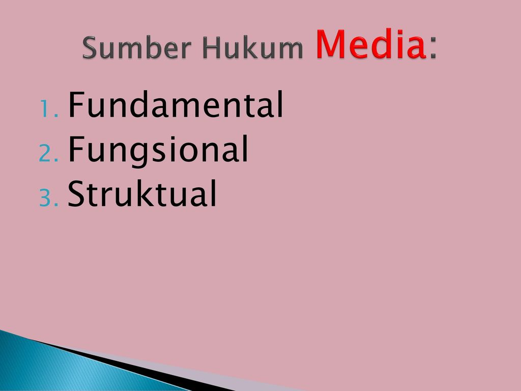 Sumber Hukum Media: Fundamental Fungsional Struktual