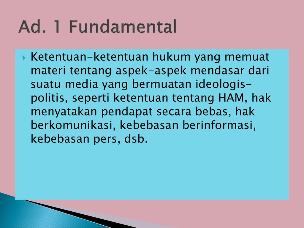 Ad. 1 Fundamental
