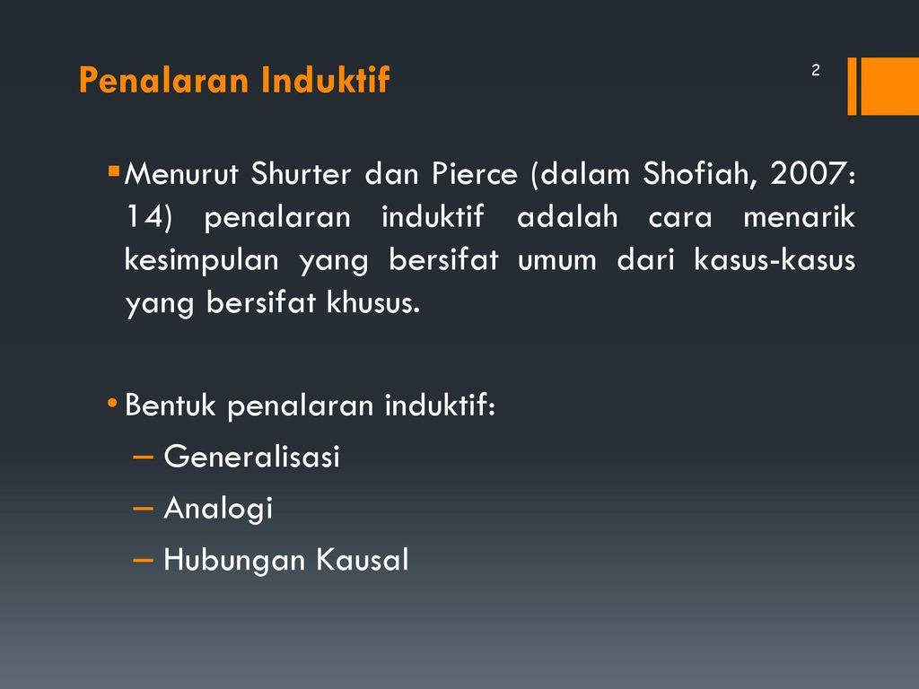 Penalaran Induktif Ppt Download