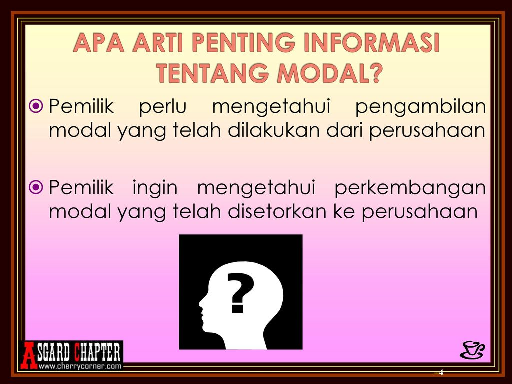 Bab 14 Pelaporan Perubahan Modal Neraca Dan Arus Kas Ppt Download