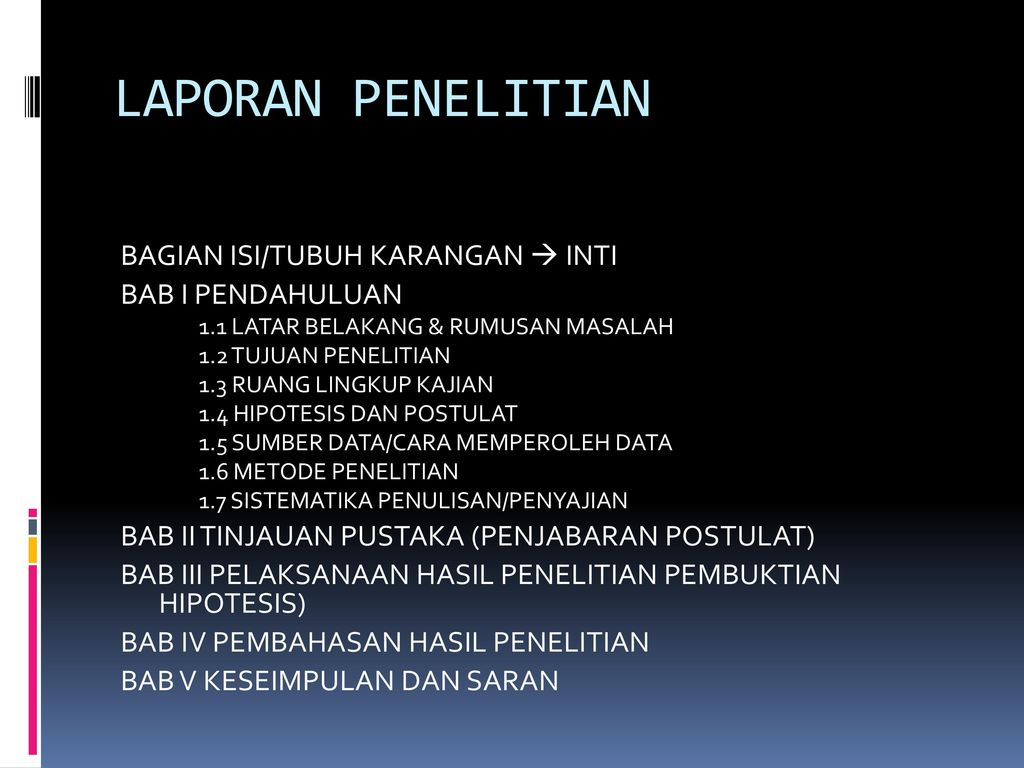 Komponen Karya Ilmiah Ppt Download