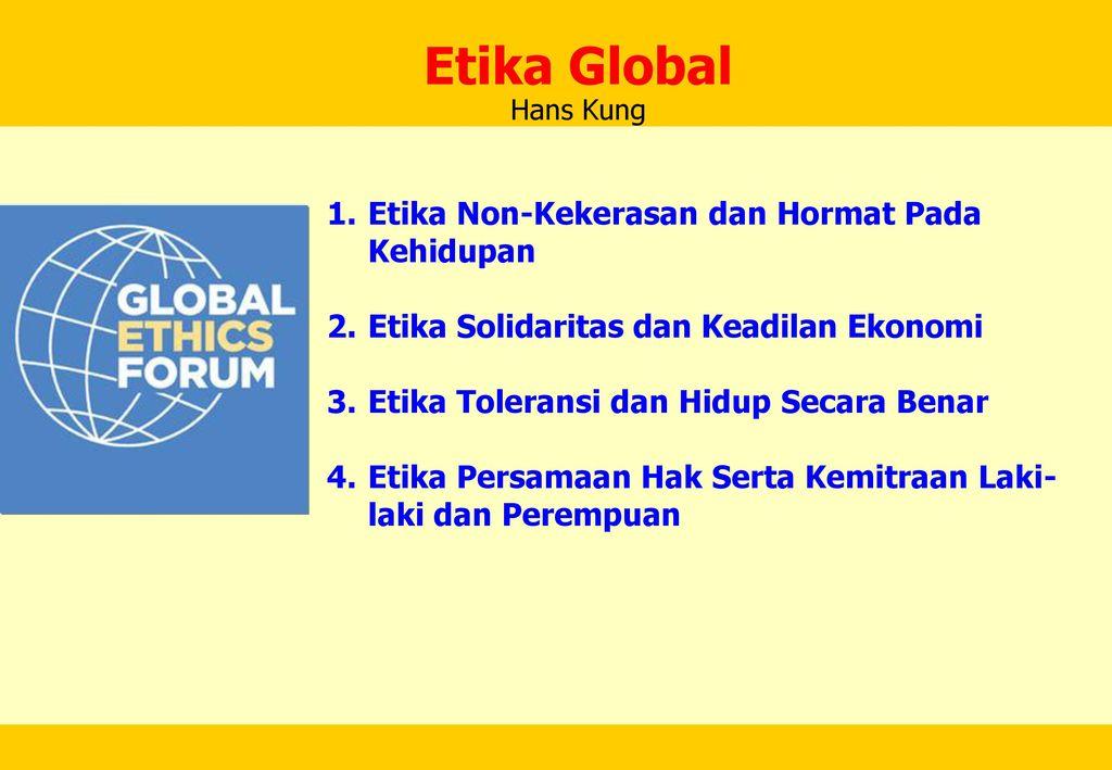 Etika Di Milenium Ketiga Ppt Download