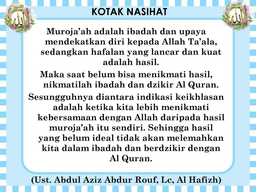 Berinteraksi Dengan Quran Sepanjang Hayat Ppt Download