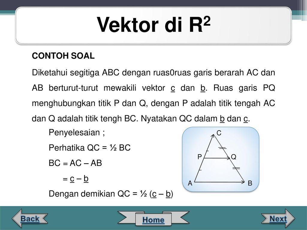 Contoh Soal Vektor Di R2 Soal Soal