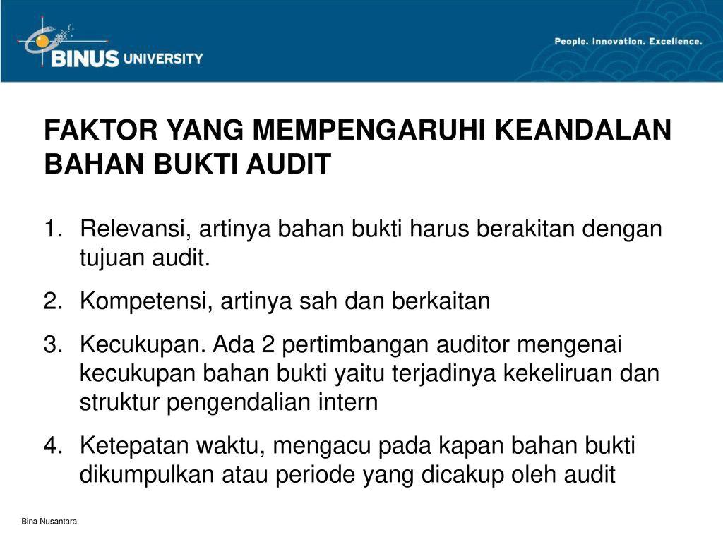 Bahan Bukti Audit Pertemuan Ppt Download