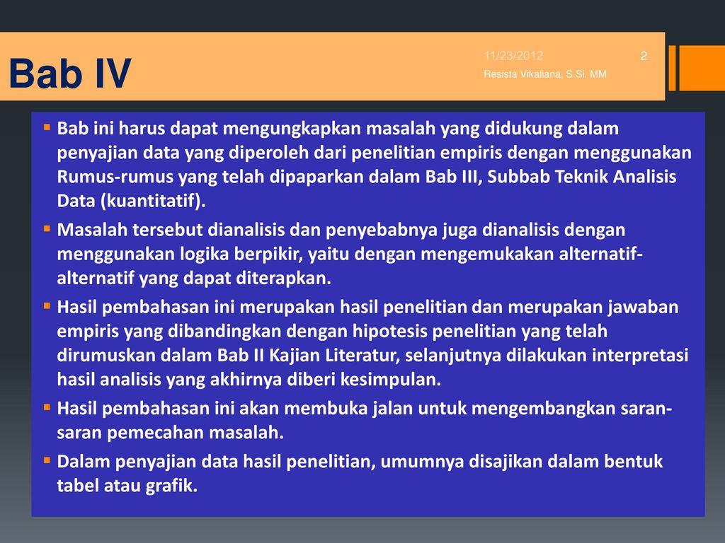 Bab Iv Hasil Penelitian Dan Pembahasan Ppt Download
