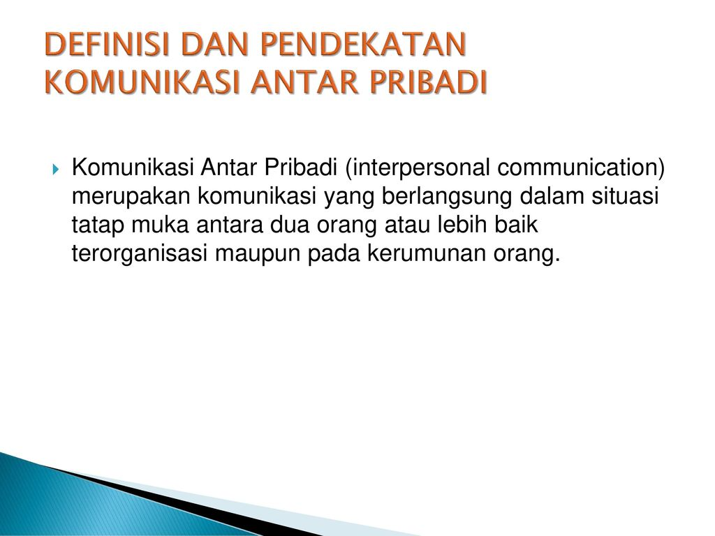 Komunikasi Antar Personal Ppt Download
