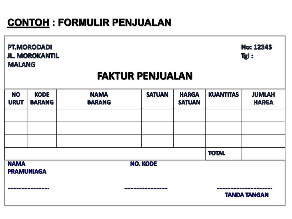 Formulir Form Sistem Akuntansi Organisasi Formulir