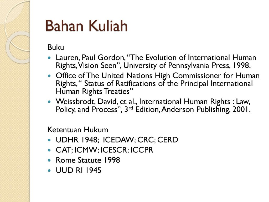 the evolution of international human rights visions seen