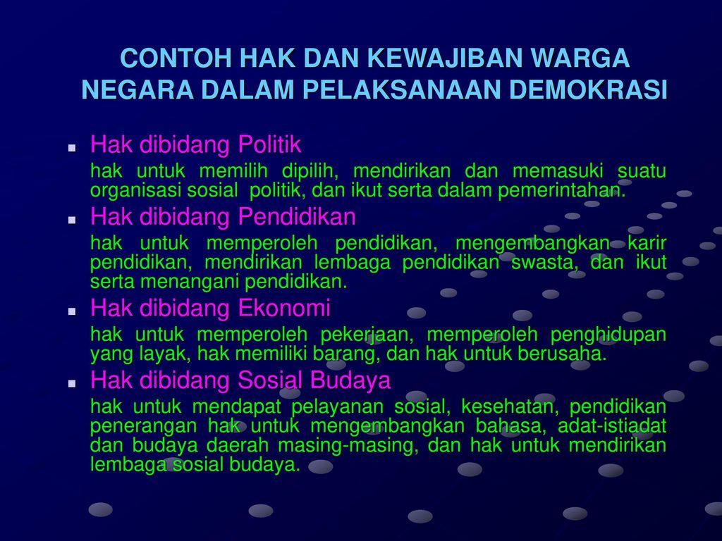 Warga Negara Hak Dan Kewajiban Warga Negara Ppt Download