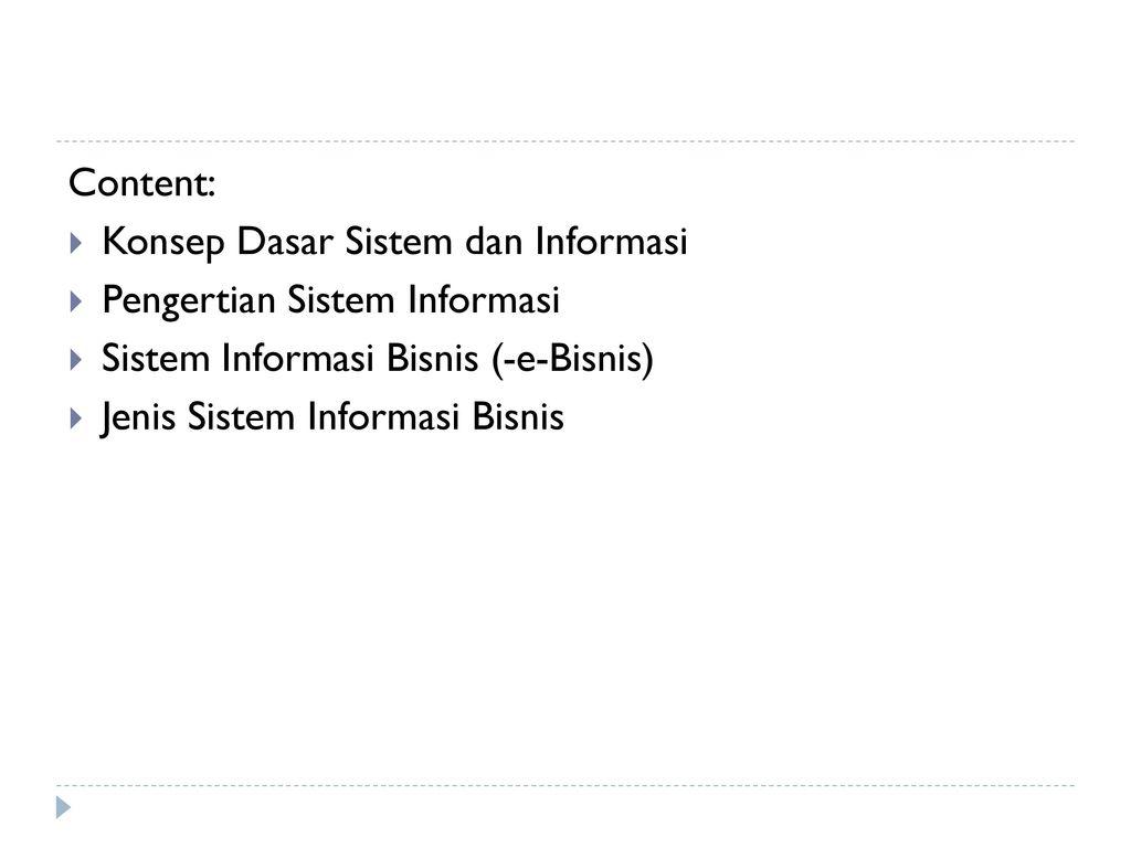 Pengantar Sistem Informasi & e-Bisnis - ppt download