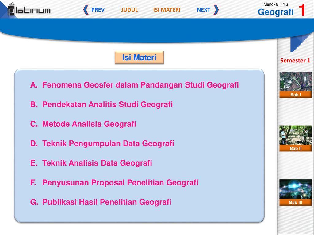 Ii Bab Penelitian Geografi Ppt Download