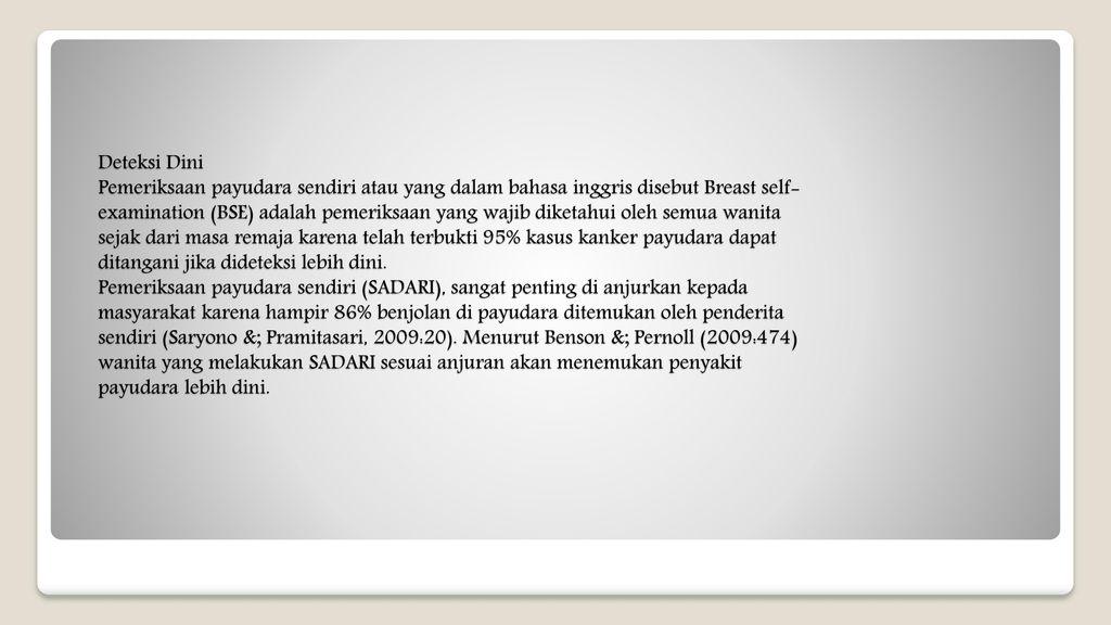 Prosedur Pemeriksaan Dan Deteksi Dini Ppt Download