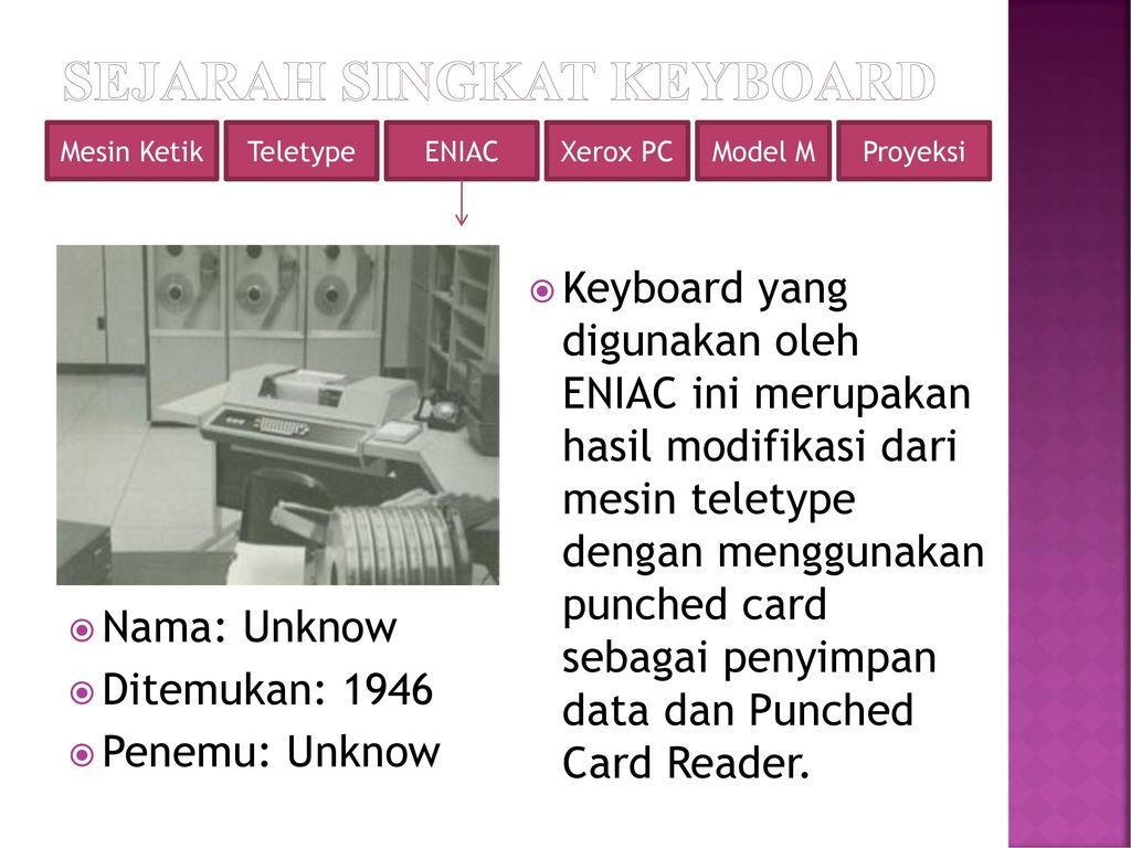 Perkembangan Teknologi Keyboard Ppt Download