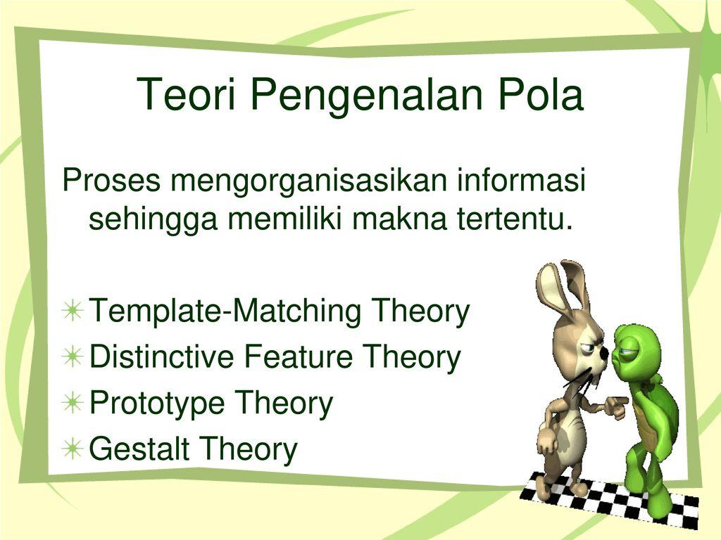 Pengenalan Pola Maria A Tobing Si Mk Psikologi Kognitif Pi