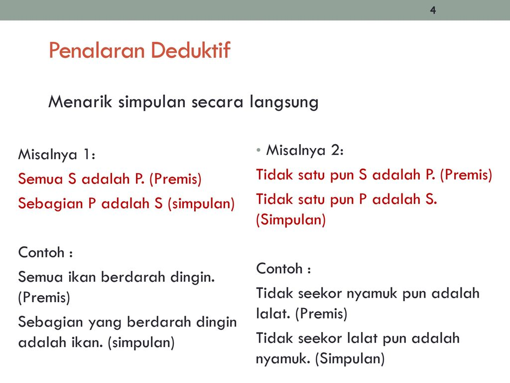 Penalaran Deduktif Dan Induktif Ppt Download