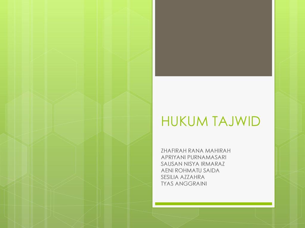 Hukum Tajwid Zhafirah Rana Mahirah Apriyani Purnamasari