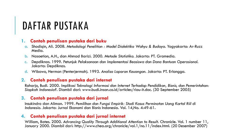 Persiapan Proposal Ta Safitri Jaya S Kom M T I Ppt Download