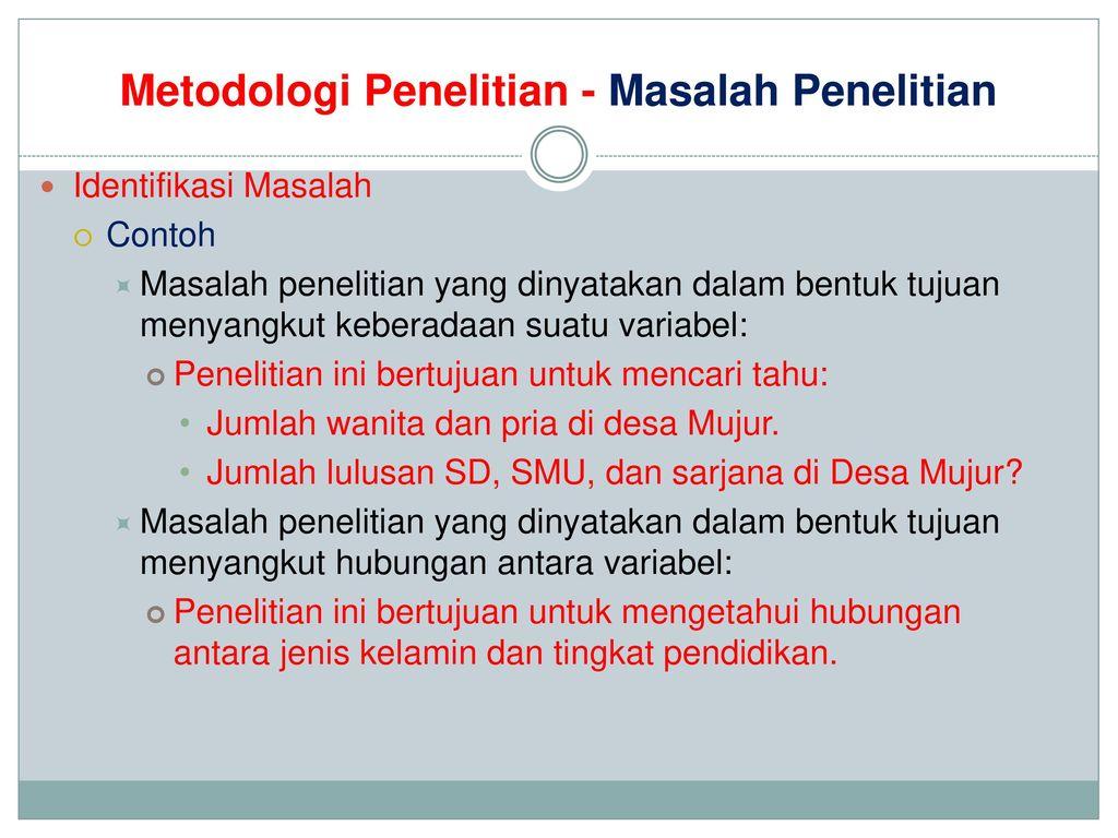 Metodologi Penelitian Ppt Download