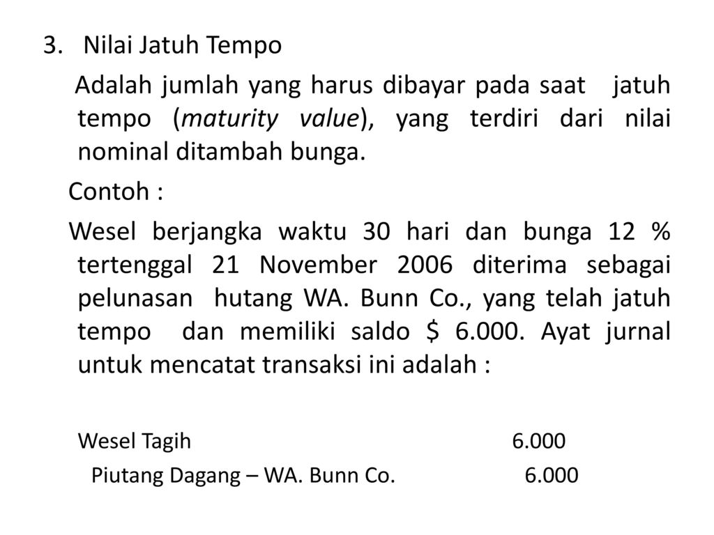 Contoh Jurnal Wesel Tagih