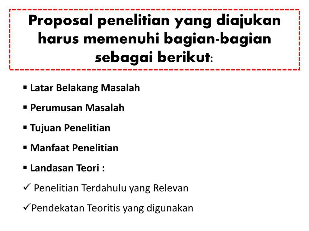 Proposal Penelitian Kualitatif Ppt Download
