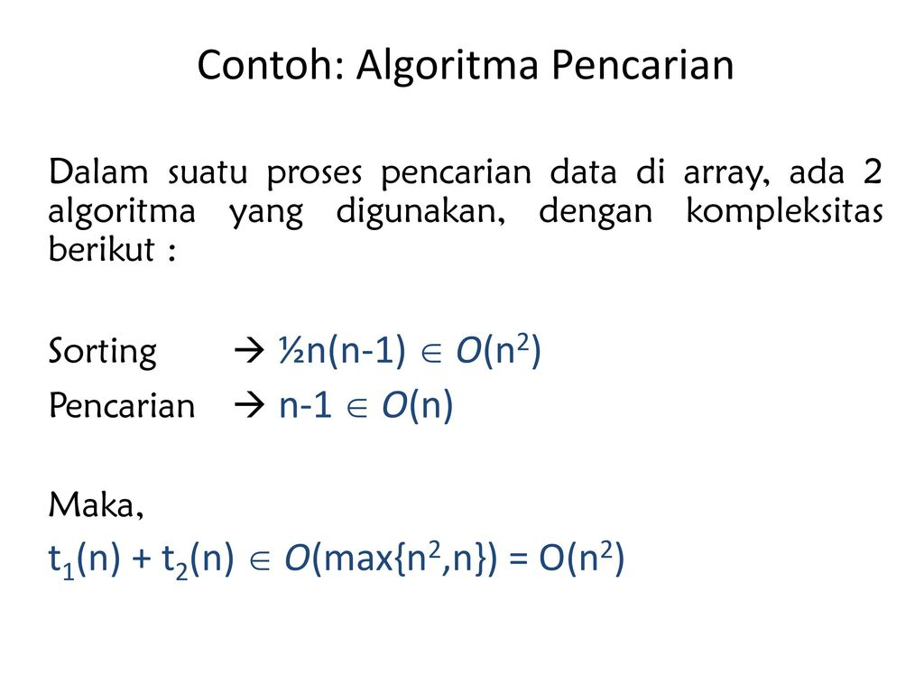 Materi Perkuliahan Analisis Algoritma Ppt Download