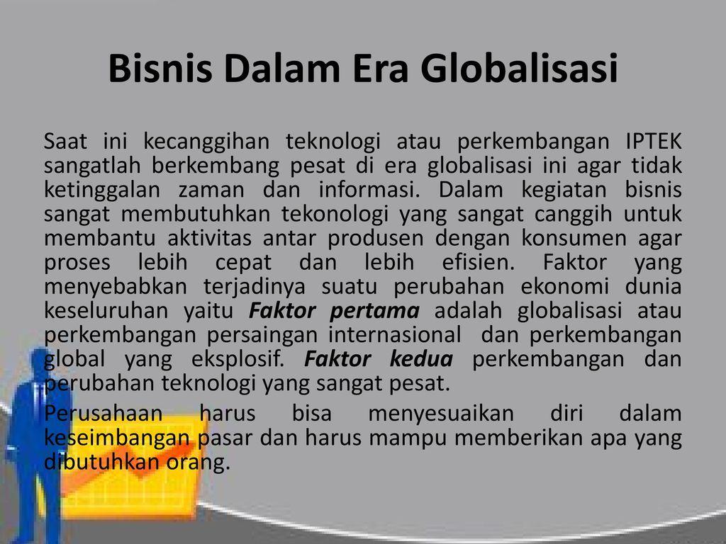 Berbisnis Dalam Ekonomi Global Ppt Download