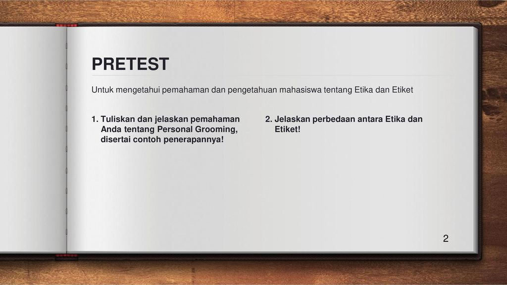 Etika Perjalanan Bisnis Ppt Download