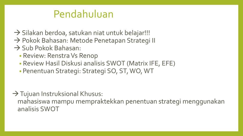 Pertemuan 7 Perencanaan Strategis Ppt Download