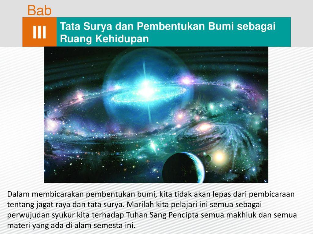 Iii Bab Tata Surya Dan Pembentukan Bumi Sebagai Ruang Kehidupan