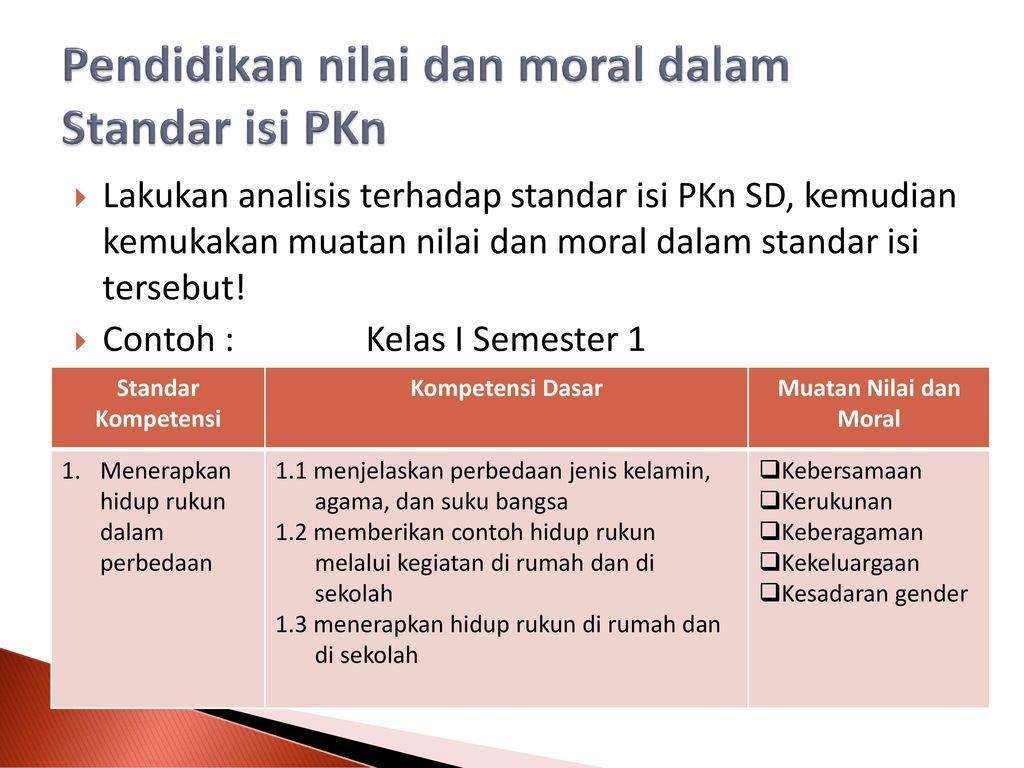 Pkn Sebagai Pendidikan Nilai Dan Moral Ppt Download