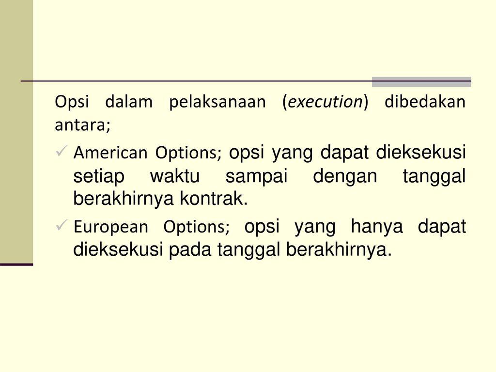 opsi perdagangan tidak ada surat tindakan