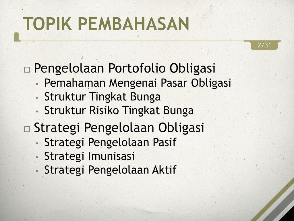 obligasi strategi perdagangan