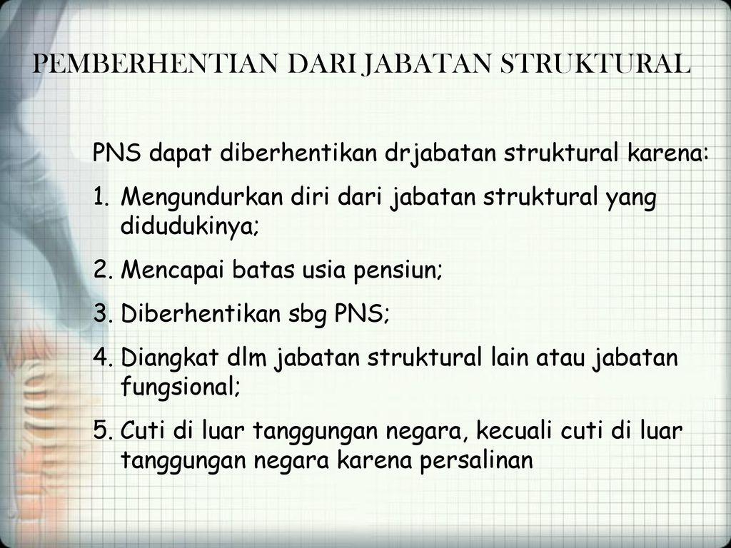 Surat Pengunduran Diri Dari Jabatan Struktural Bagi Contoh Surat