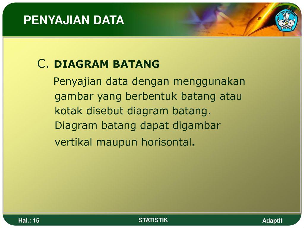 Statistika pengertian statistik ppt download 15 penyajian data dengan menggunakan c diagram batang ccuart Choice Image