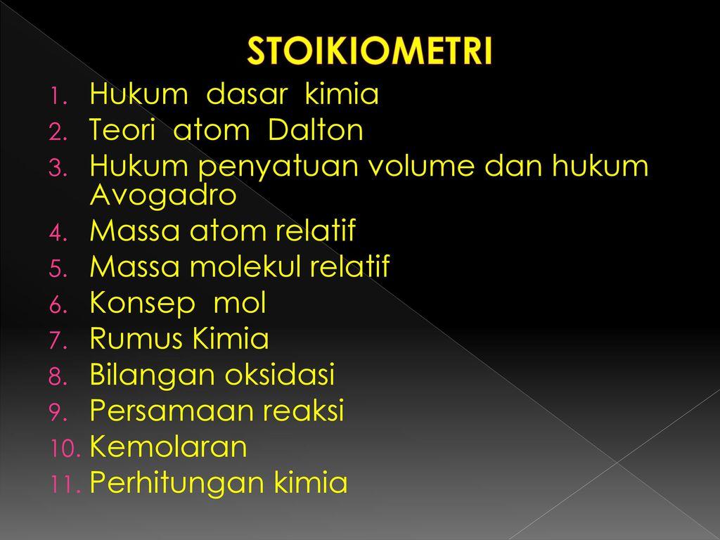 Stoikiometri tim dosen pengampu mk. Kimia dasar. Ppt download.
