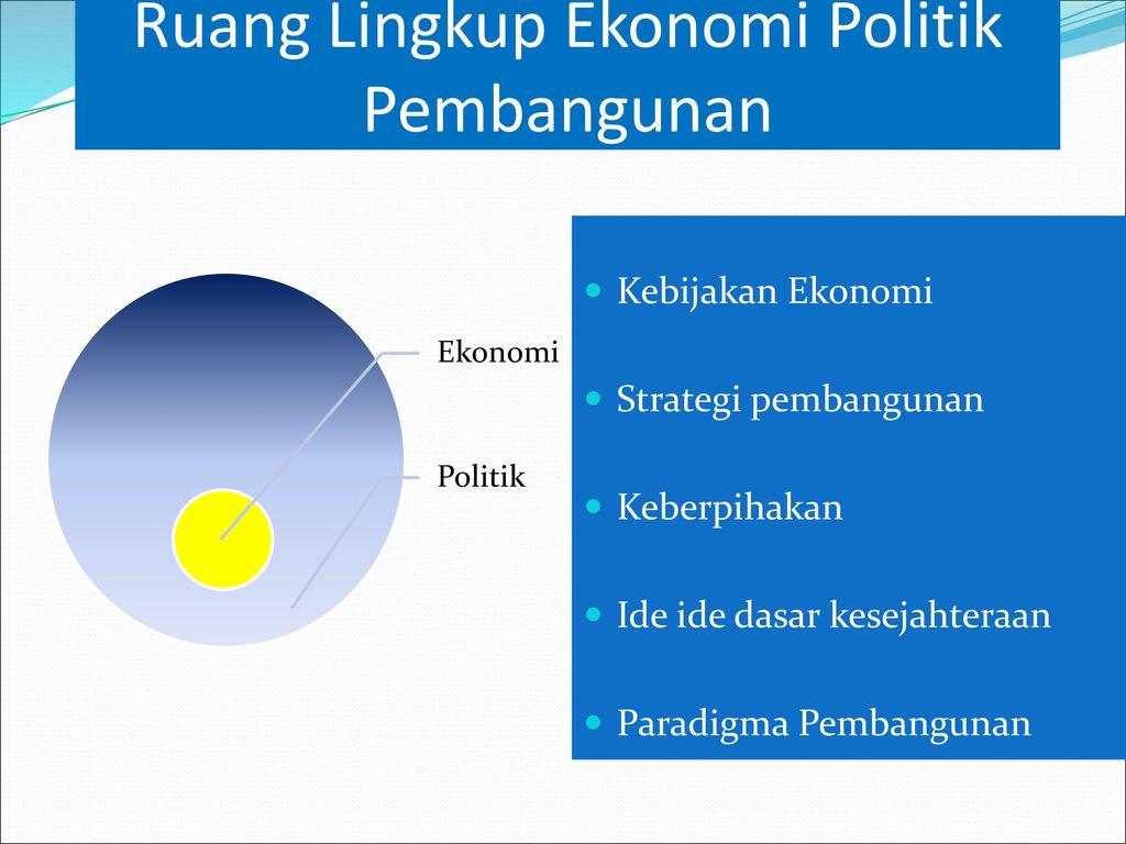 Skope Ekonomi Politik Dan Pembangunan Ppt Download
