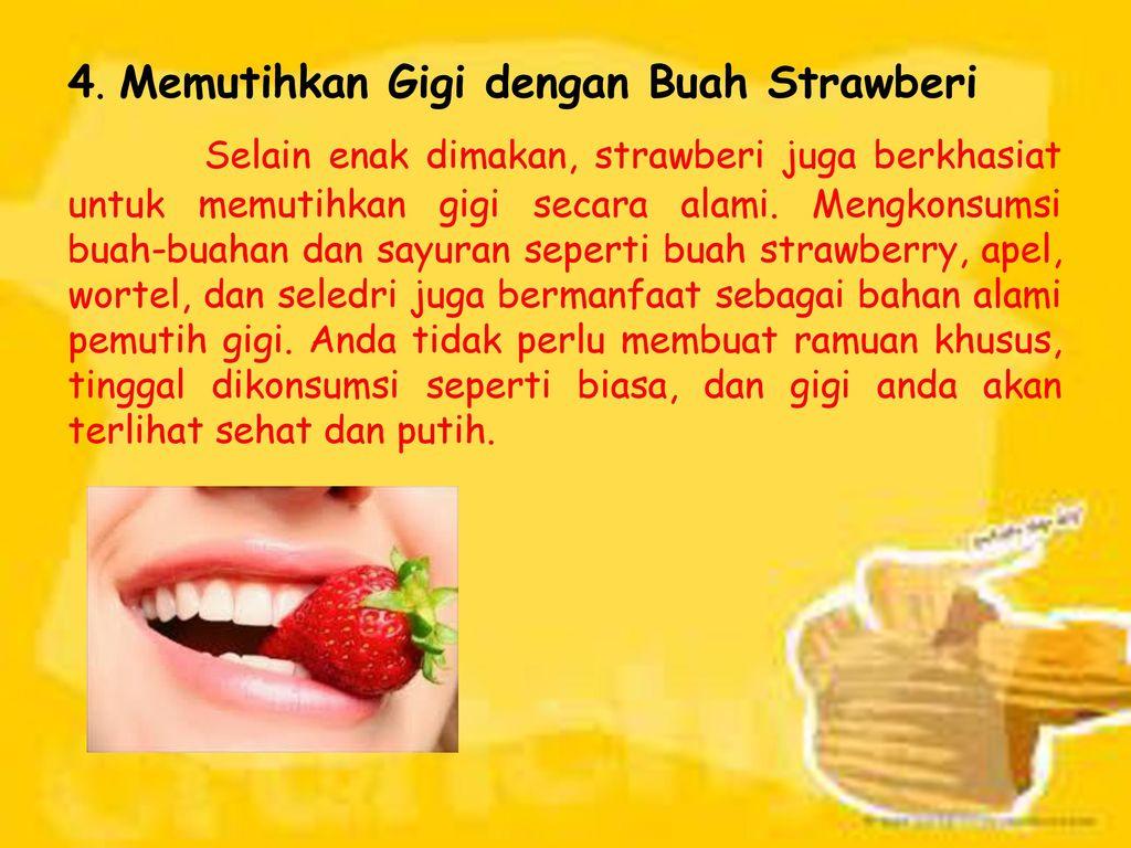 Cara Memutihkan Gigi Secara Alami Ppt Download
