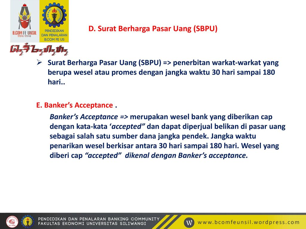 Pasar Uang Dan Dan Dan Pasar Modal Ppt Download