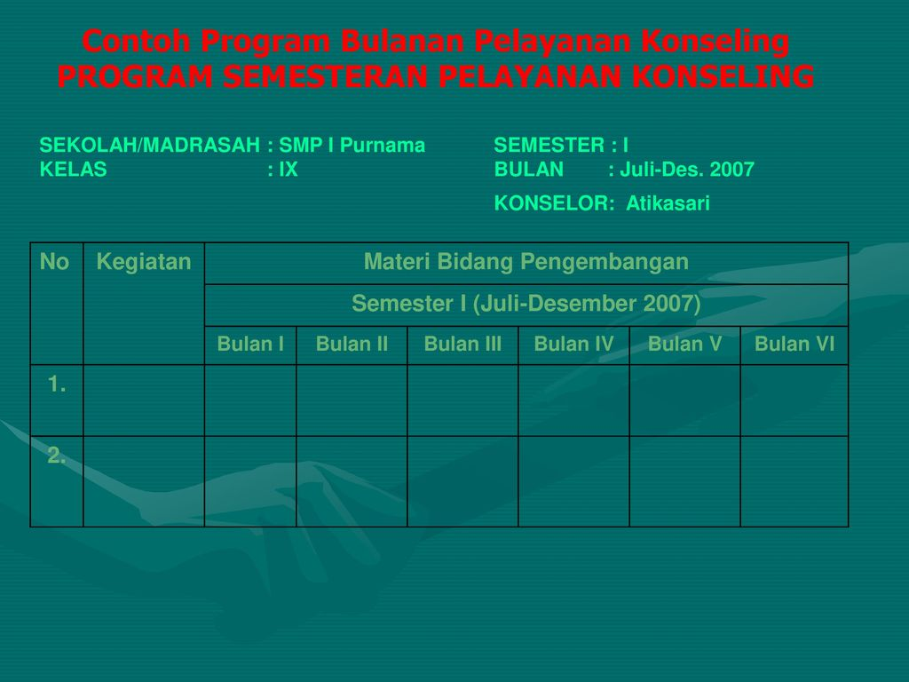 Program Pelayanan Konseling Ppt Download