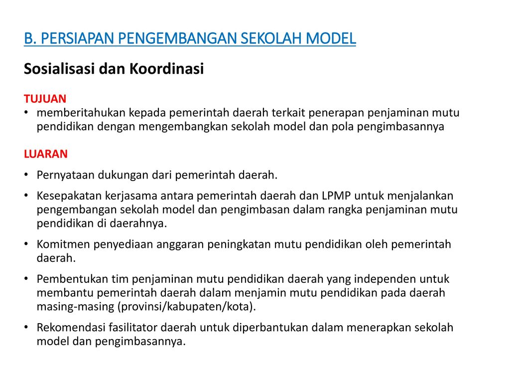 Pengembangan Sekolah Model Dan Pengimbasan Ppt Download