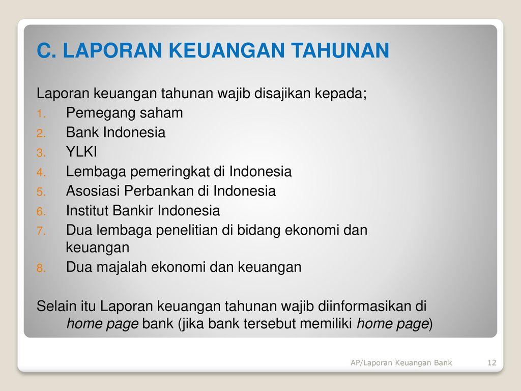 Laporan Keuangan Bank Ppt Download